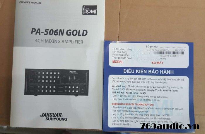 bảo hành Jarguar 506 gold limited edition
