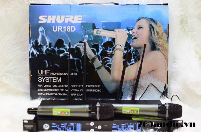 khui hộp Shure UR18D