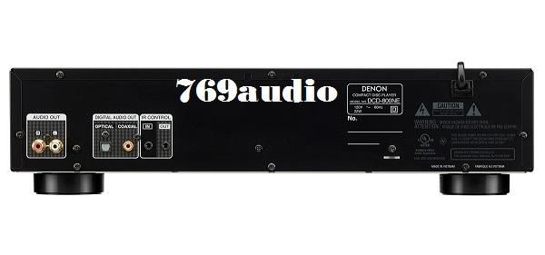 Mặt sau đầu CD Denon DCD-800NEBK