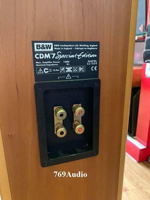 loa BW CDM7 gold SE chính hãng