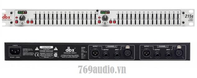 mặt trước equalizer DBX 231S