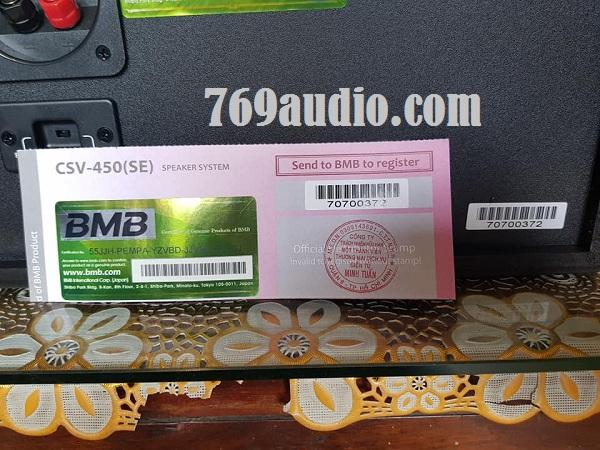 mặt sau BMB 450SE