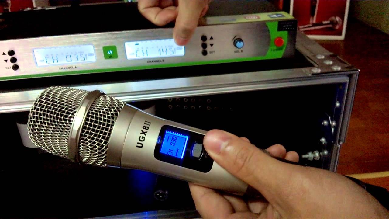 micro shure karaoke ugx8 ii