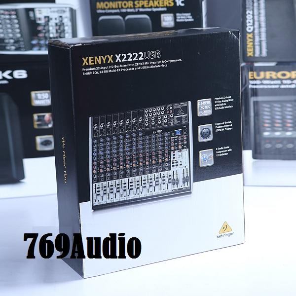 mixer behringer xenyx x2222usb, mixer sân khấu behringer